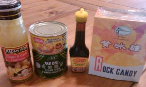 Some of my purchases from Lee Lee Supermarket